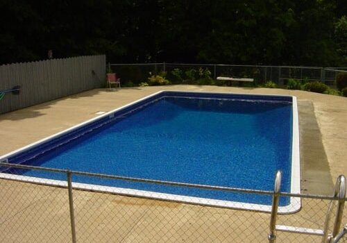 finished pool wall repair