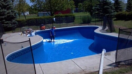 pool and hot tub liner repair installation finished
