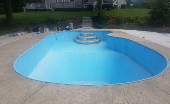 pool liner repair bucyrus ohio by the pool guy