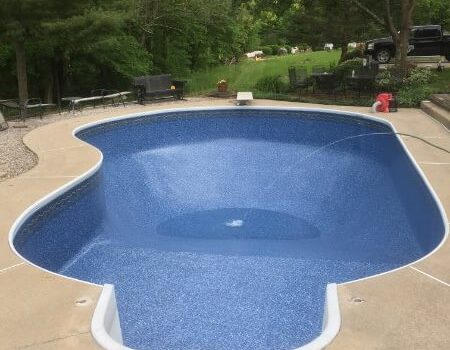 finished pool liner repair near wooster ohio by the pool guy